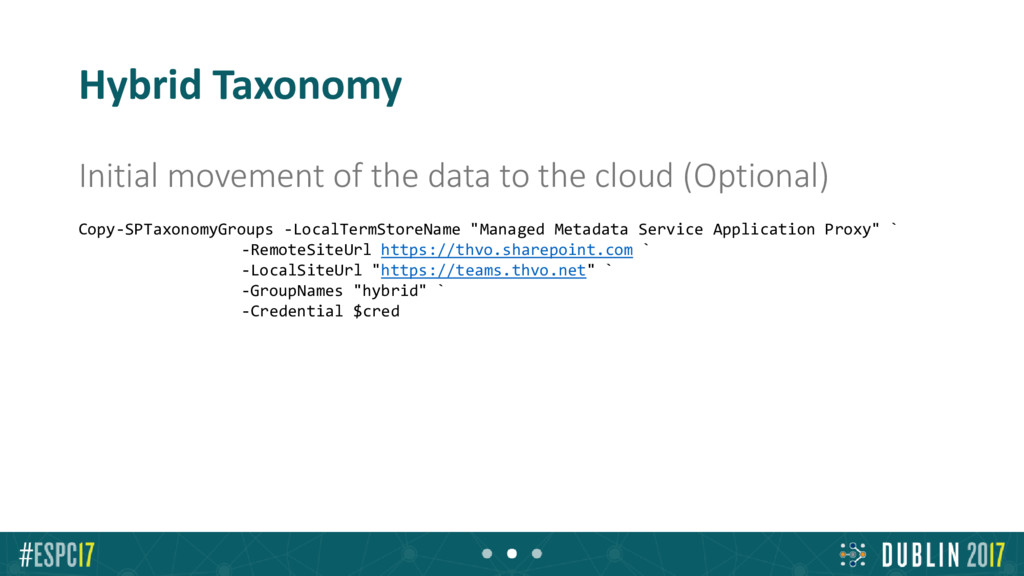 Hybrid Taxonomy Initial movement of the data to...