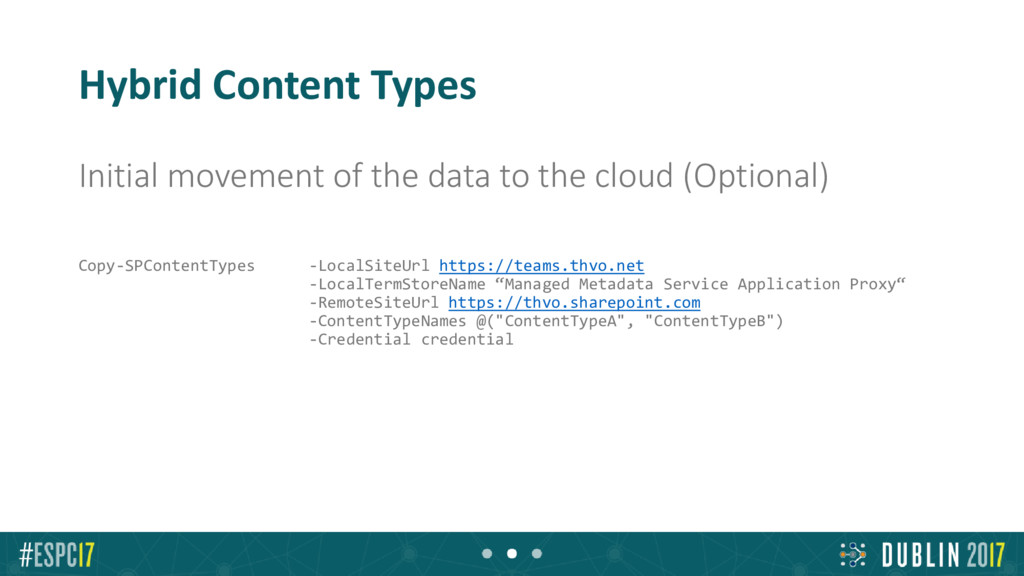 Hybrid Content Types Initial movement of the da...