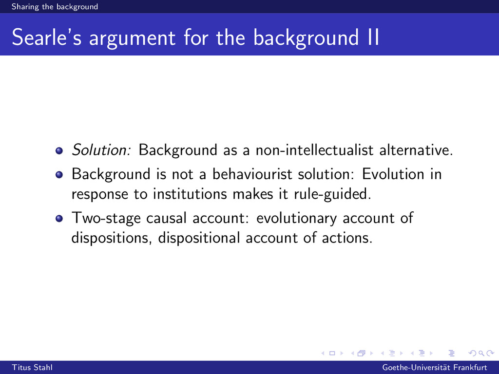 Sharing the background Searle's argument for th...