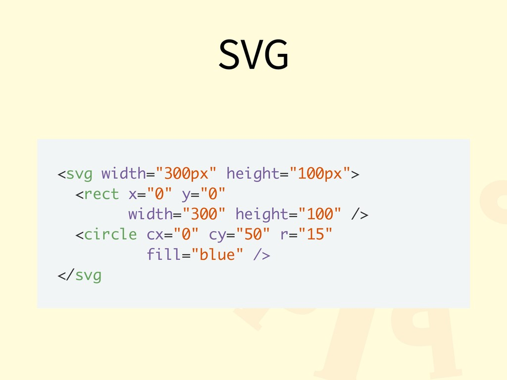 """SVG <svg width=""""300px"""" height=""""100px""""> <rect x=..."""
