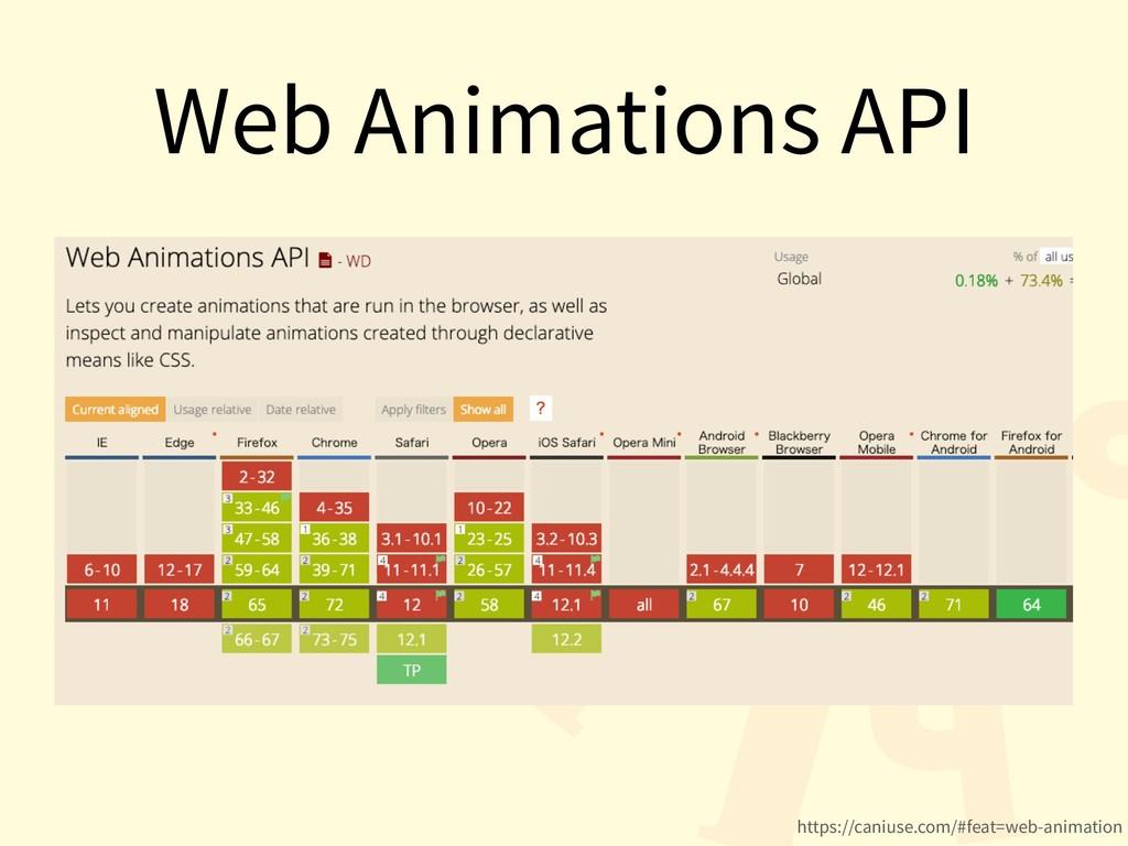 Web Animations API https://caniuse.com/#feat=we...