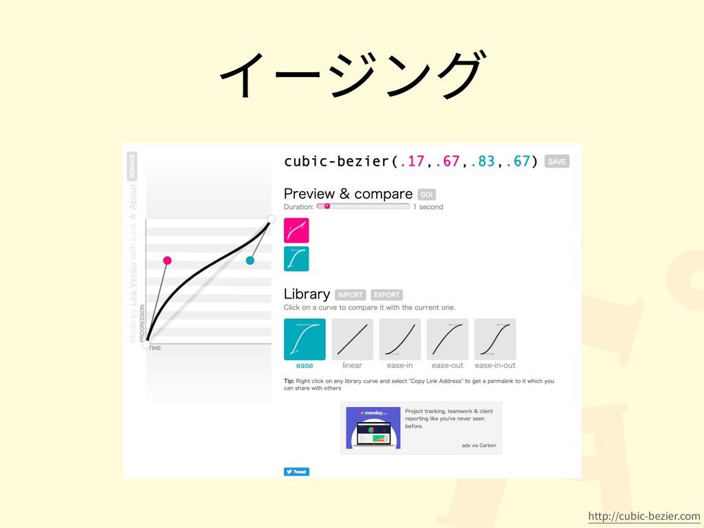 イージング http://cubic-bezier.com
