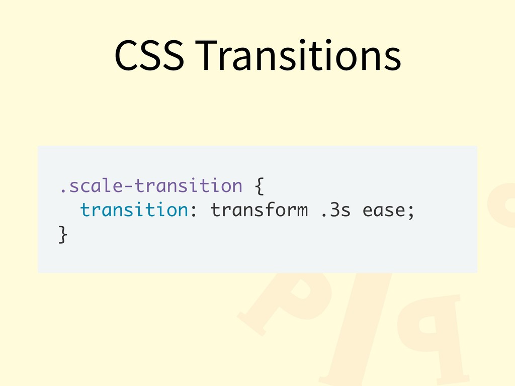 .scale-transition { transition: transform .3s e...