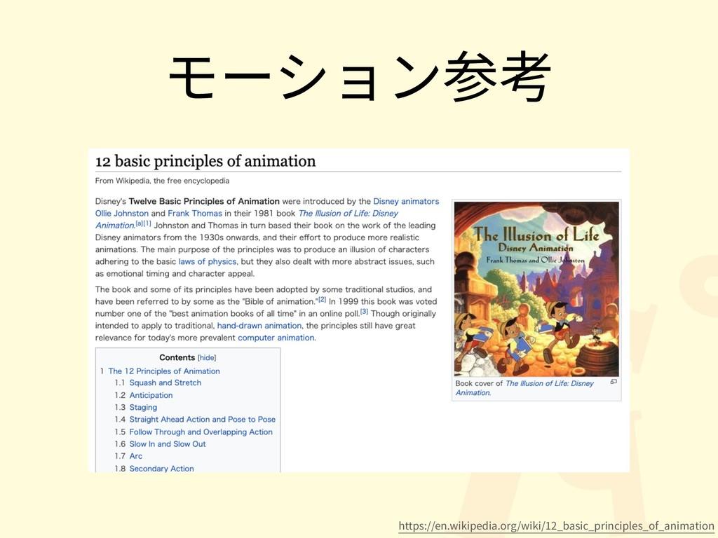 モーション参考 https://en.wikipedia.org/wiki/12_basic_...