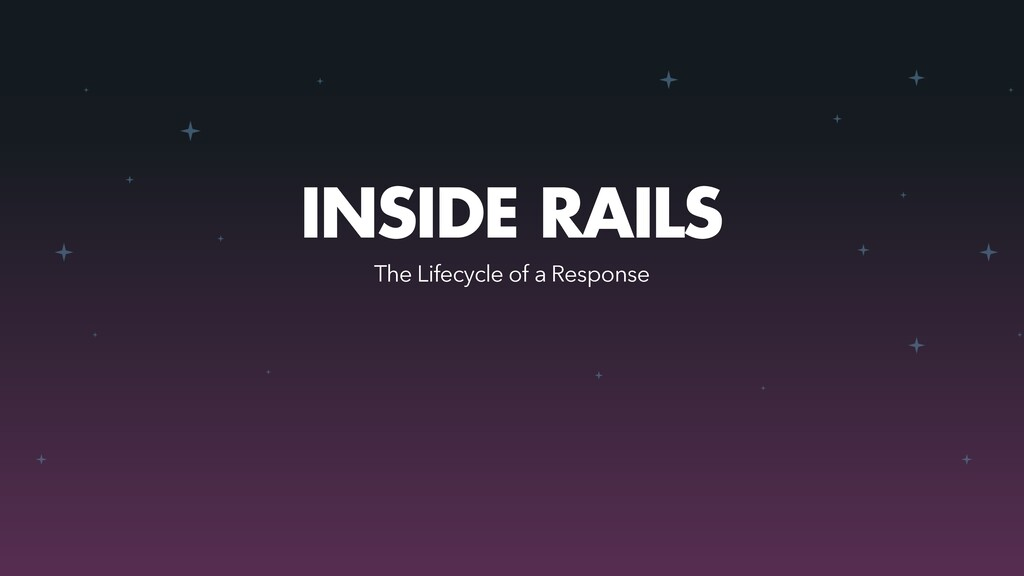 INSIDE RAILS The Lifecycle of a Response