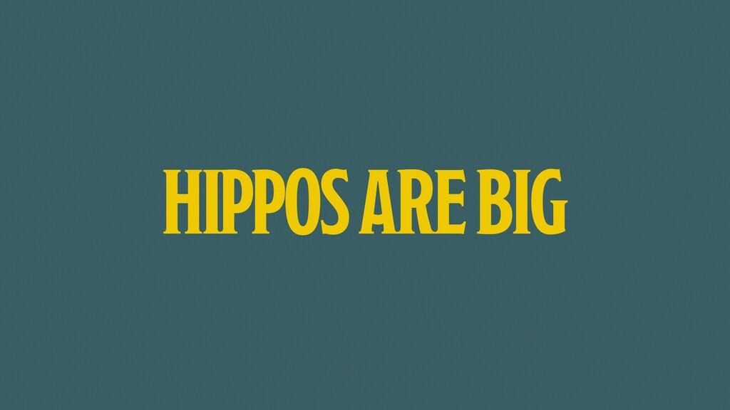 HIPPOS ARE BIG