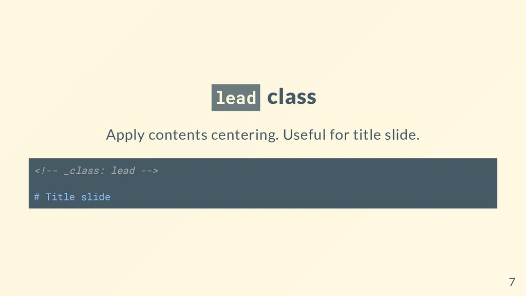 lead class Apply contents centering. Useful for...