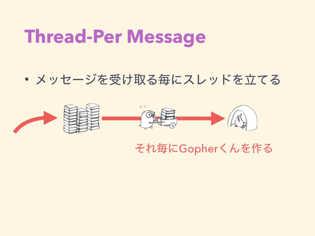 Thread-Per Message • ϝοηʔδΛड͚औΔຖʹεϨουΛཱͯΔ ͦΕຖʹG...