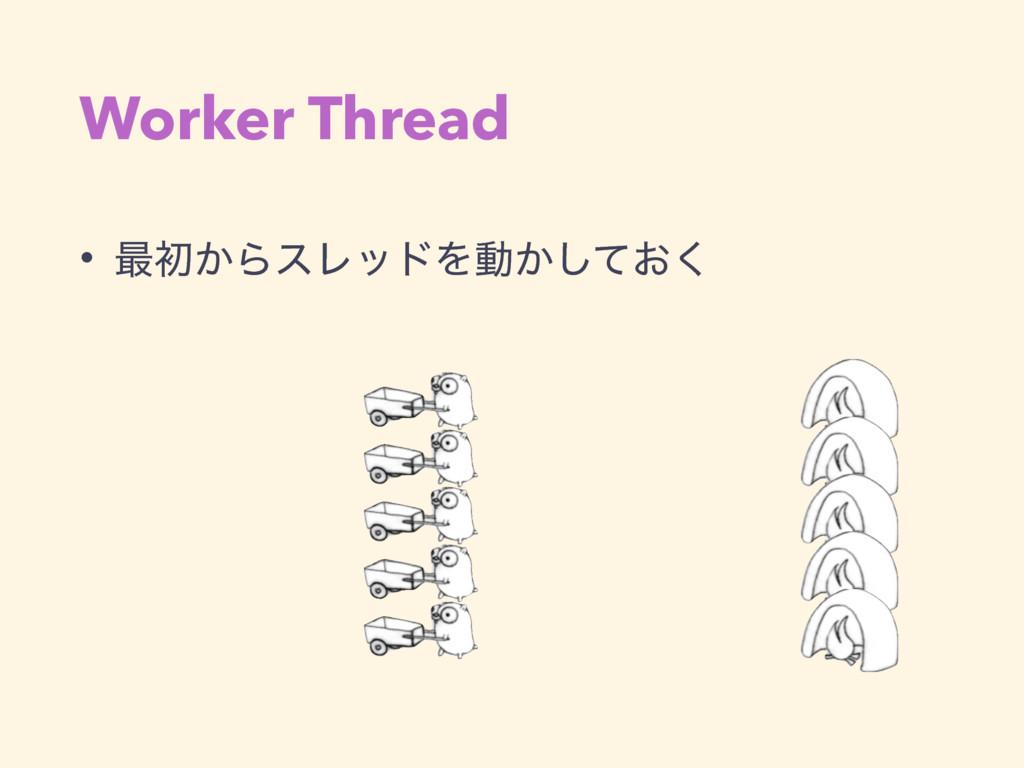 Worker Thread • ࠷ॳ͔ΒεϨουΛಈ͔͓ͯ͘͠