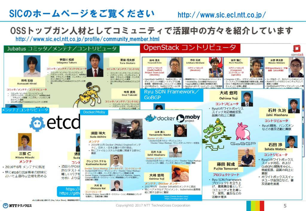 Copyright© 2017 NTT TechnoCross Corporation 5 O...