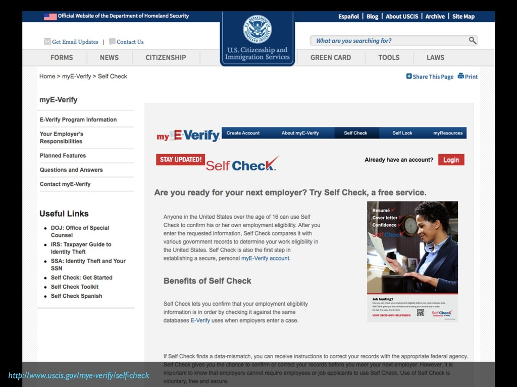 http://www.uscis.gov/mye-verify/self-check