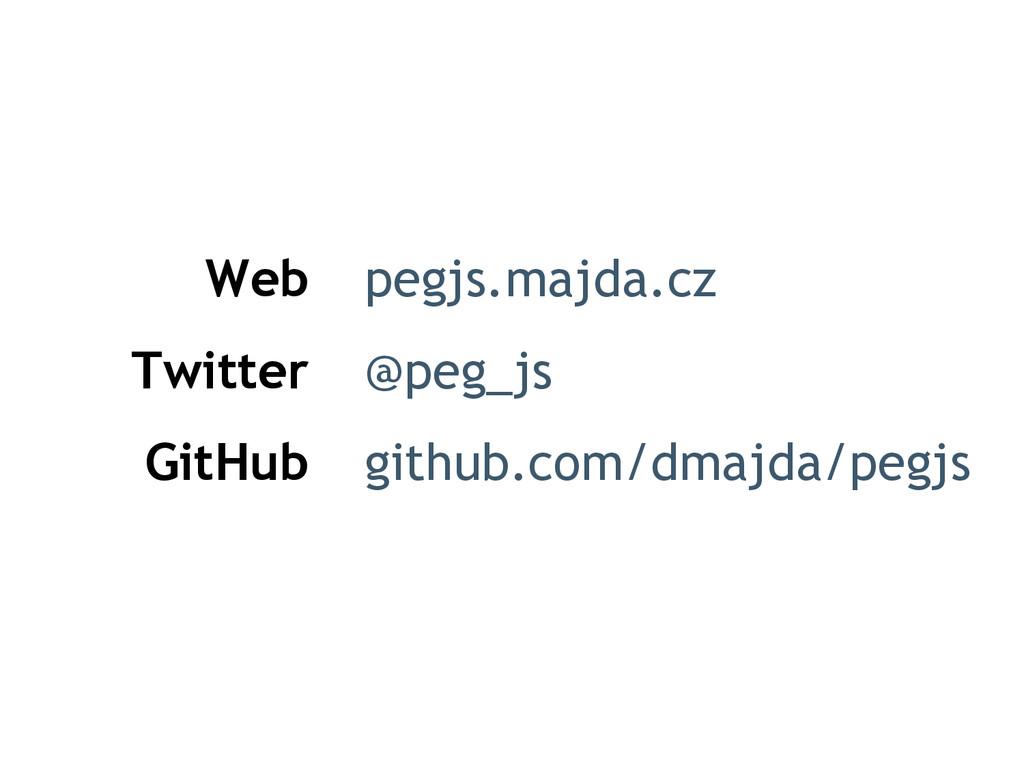 Web Twitter GitHub pegjs.majda.cz @peg_js githu...
