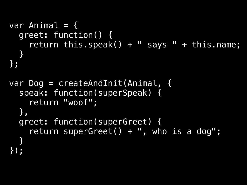 var Animal = { greet: function() { return this....