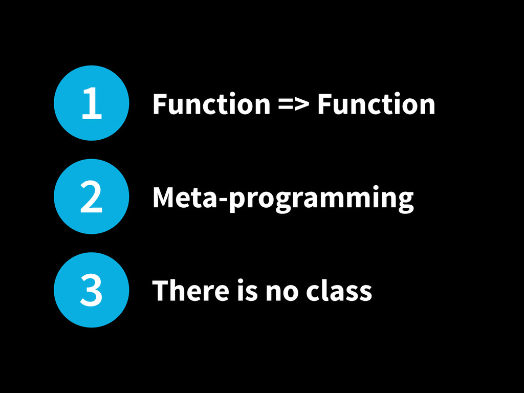 1 Function => Function 2 Meta-programming 3 The...