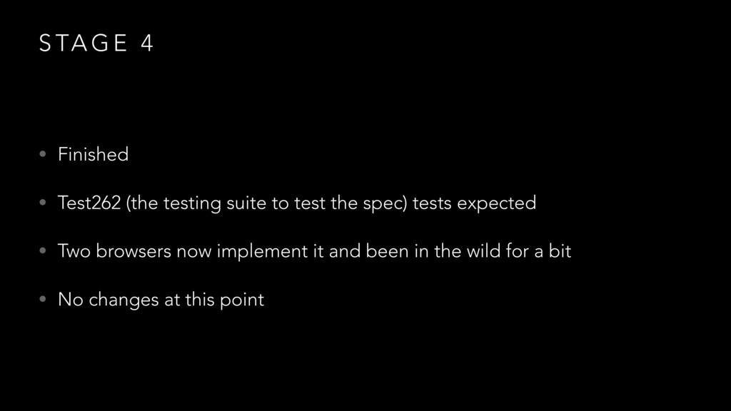 S TA G E 4 • Finished • Test262 (the testing su...