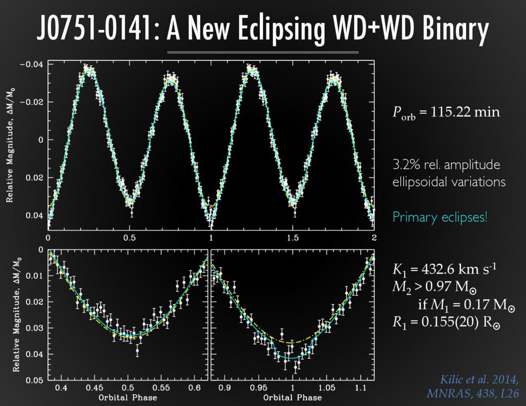 J0751-0141: A New Eclipsing WD+WD Binary Kilic ...