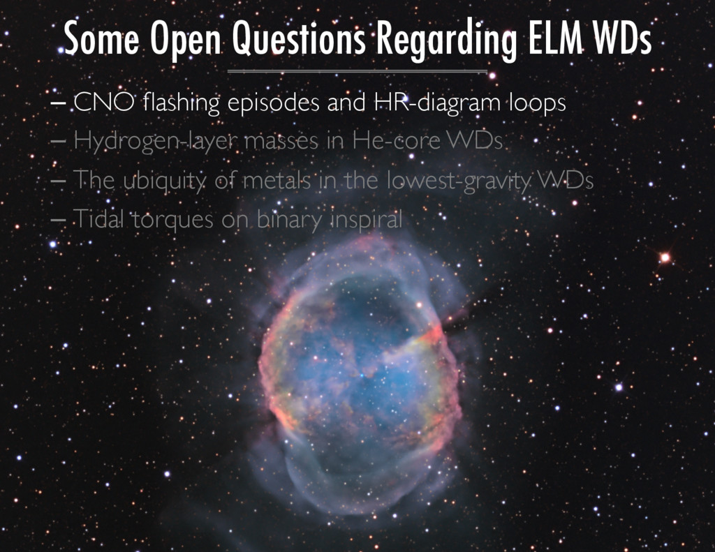 Some Open Questions Regarding ELM WDs – CNO flas...