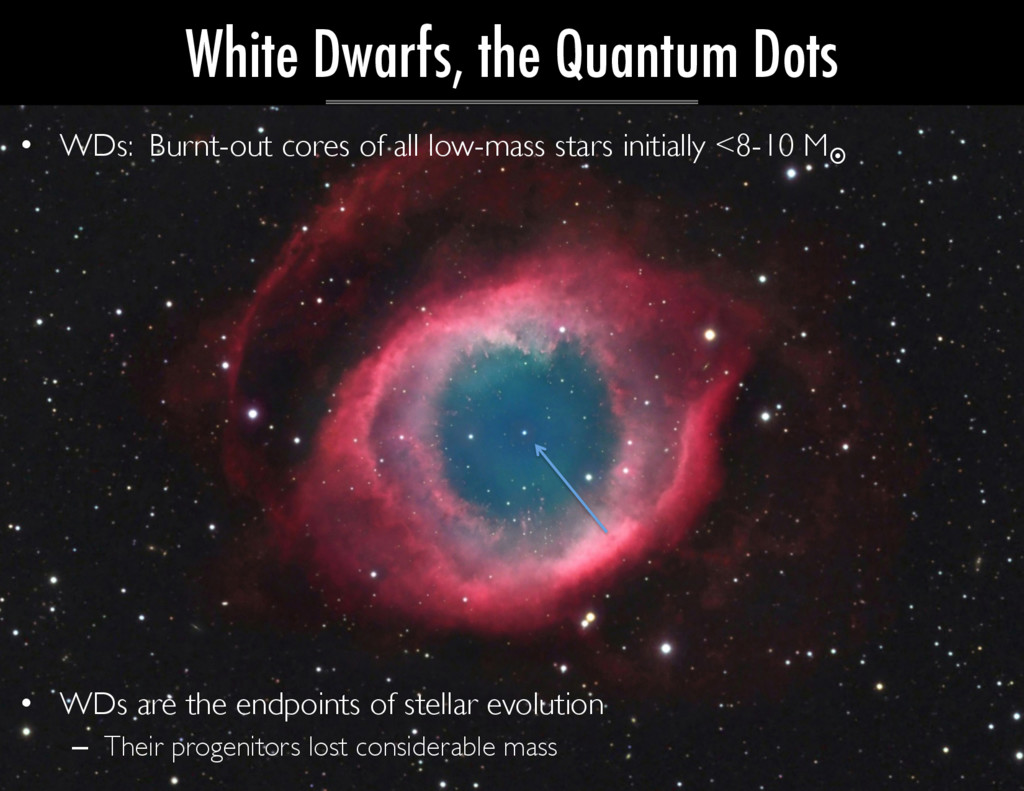 •  WDs: Burnt-out cores of all low-mass stars i...