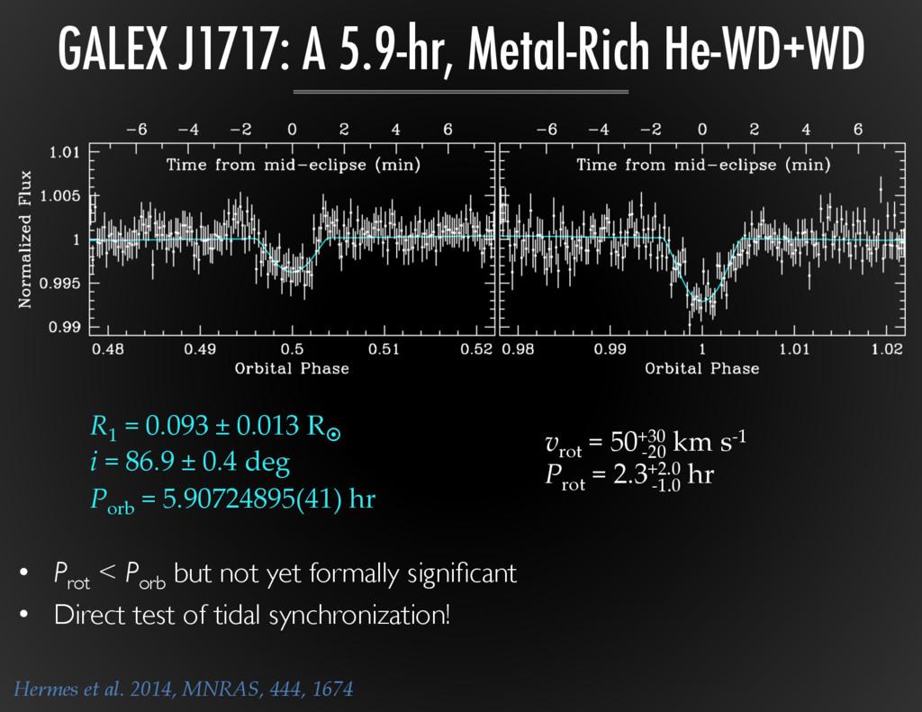 GALEX J1717: A 5.9-hr, Metal-Rich He-WD+WD R 1 ...