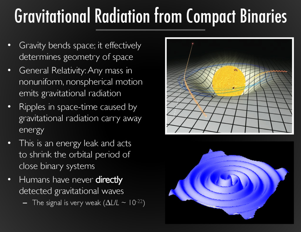 •  Gravity bends space; it effectively determin...