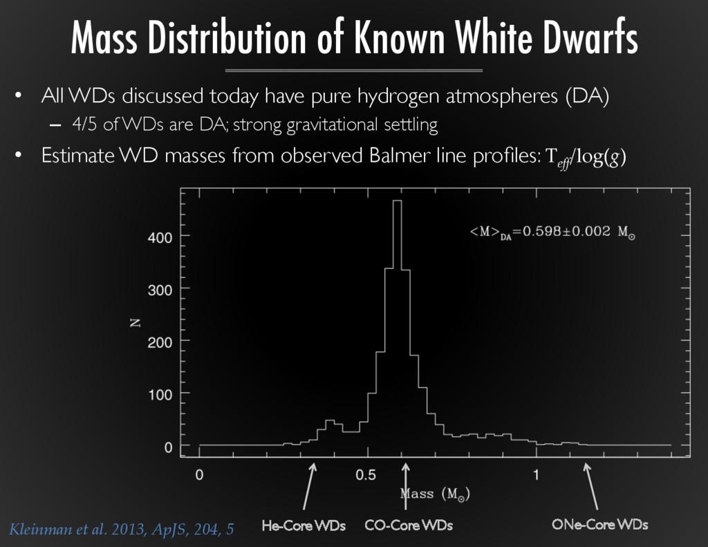 Kleinman et al. 2013, ApJS, 204, 5 • A...