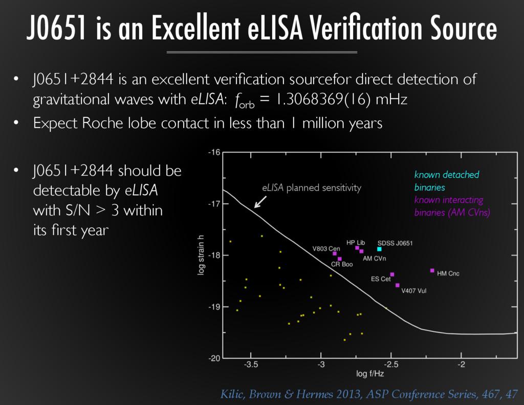 • J0651+2844 is an excellent verification sourc...