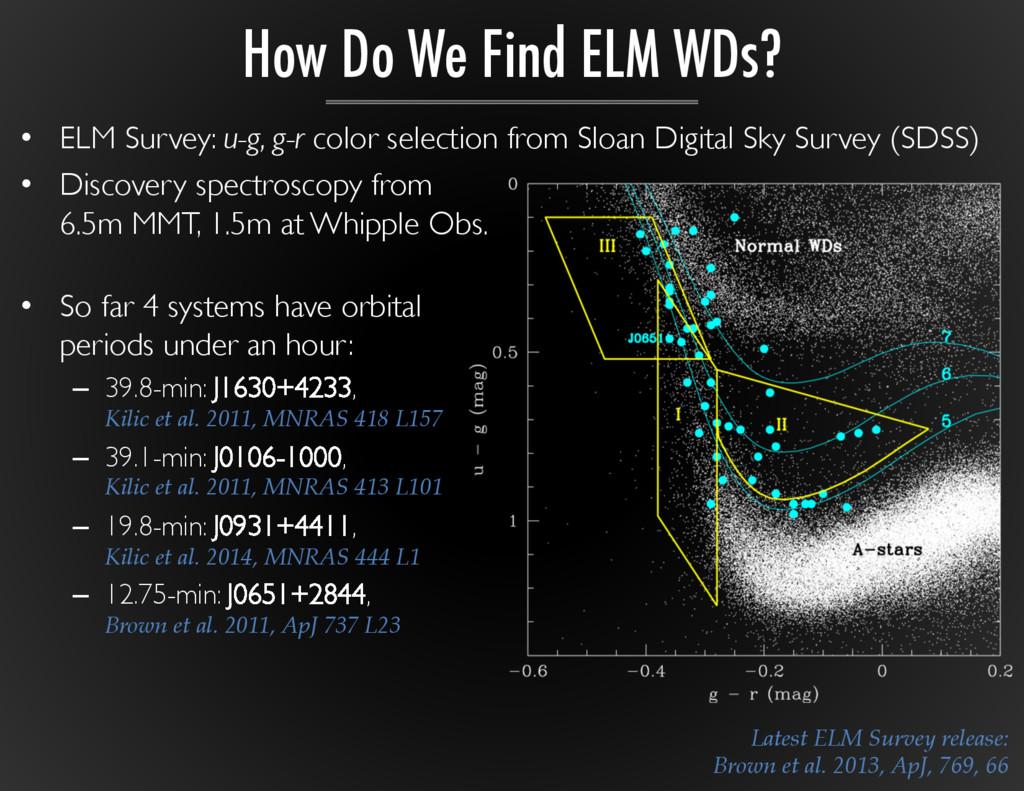 Latest ELM Survey release: Brown et al. ...