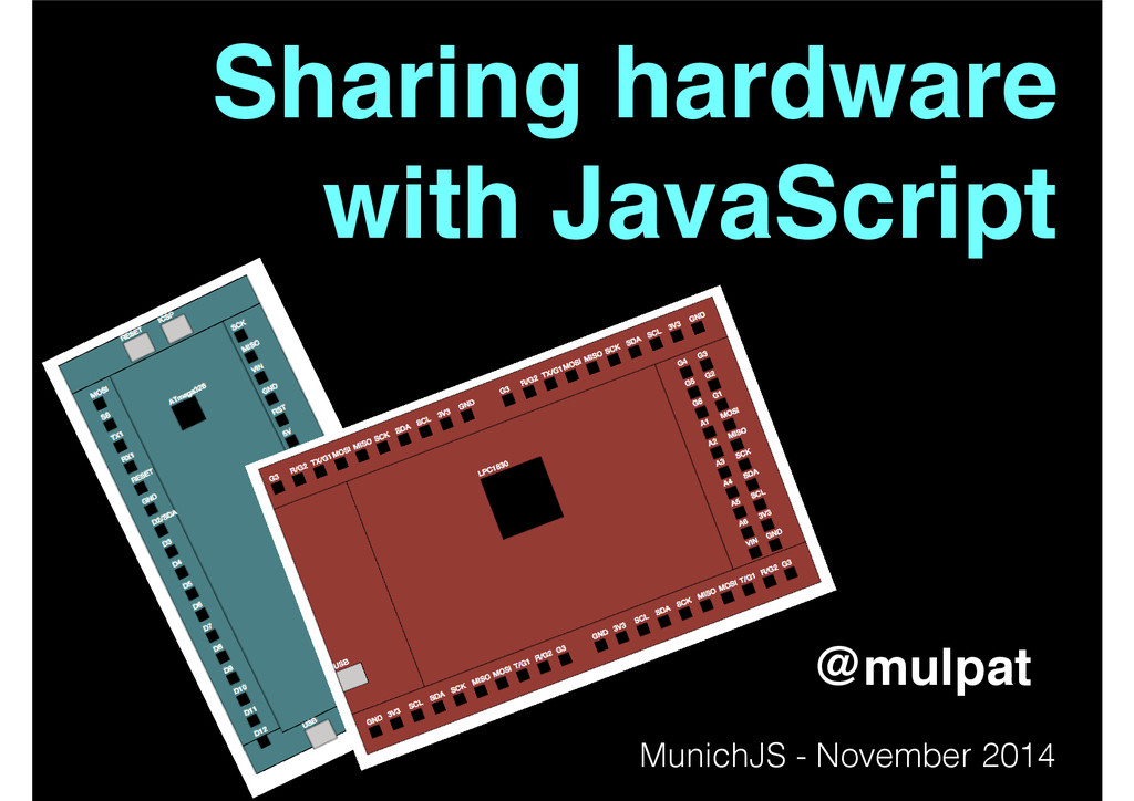 Sharing hardware! with JavaScript! @mulpat Muni...