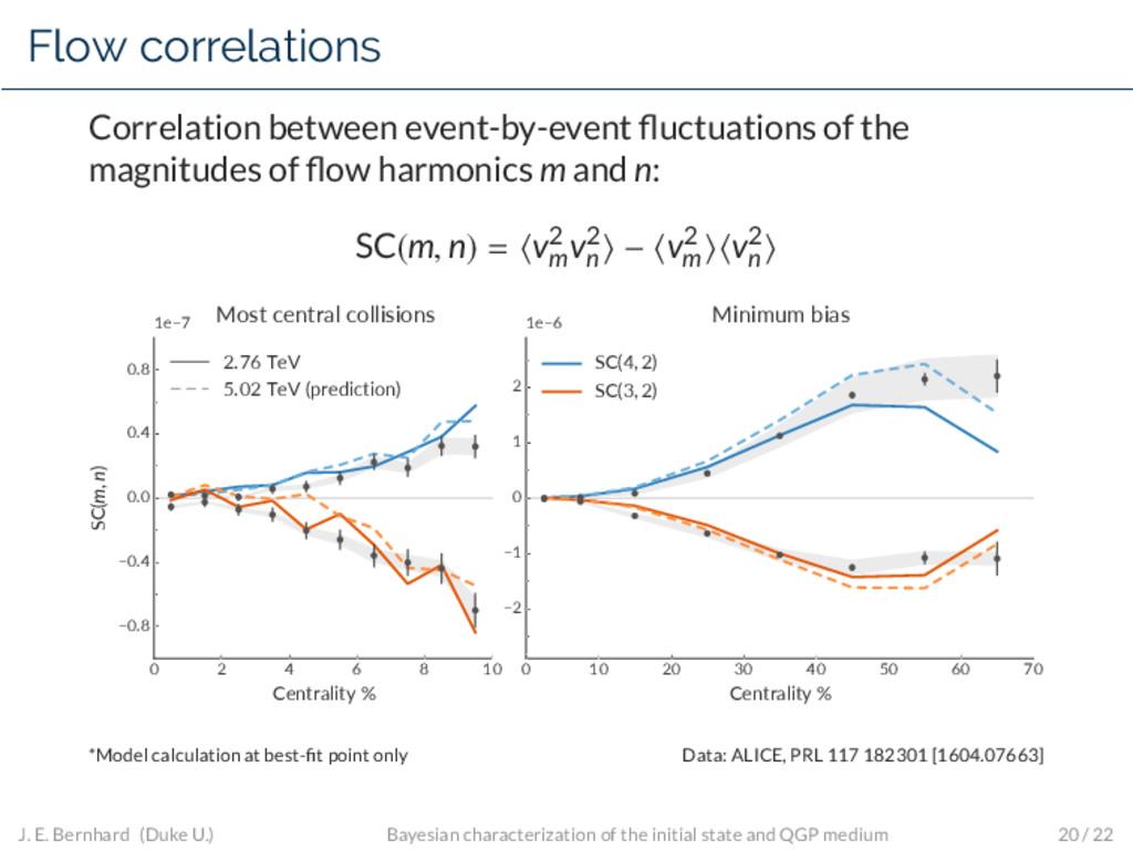 Flow correlations Correlation between event-by-...