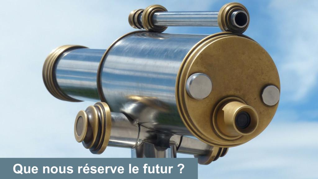 Que nous réserve le futur ?