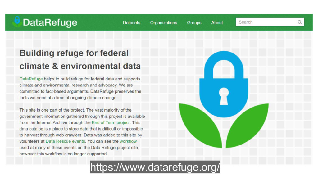 https://www.datarefuge.org/