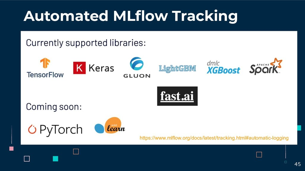 Automated MLflow Tracking https://www.mlflow.org...
