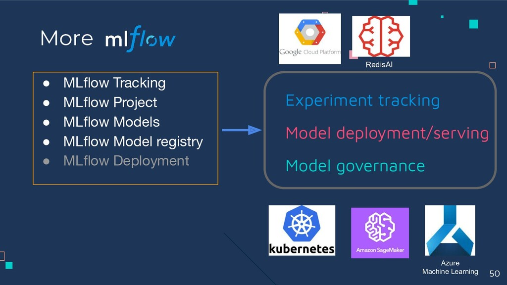 ● MLflow Tracking ● MLflow Project ● MLflow Models...