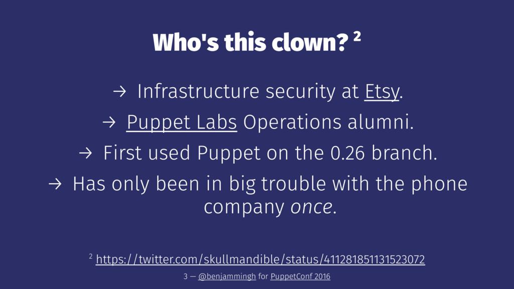 Who's this clown? 2 → Infrastructure security a...