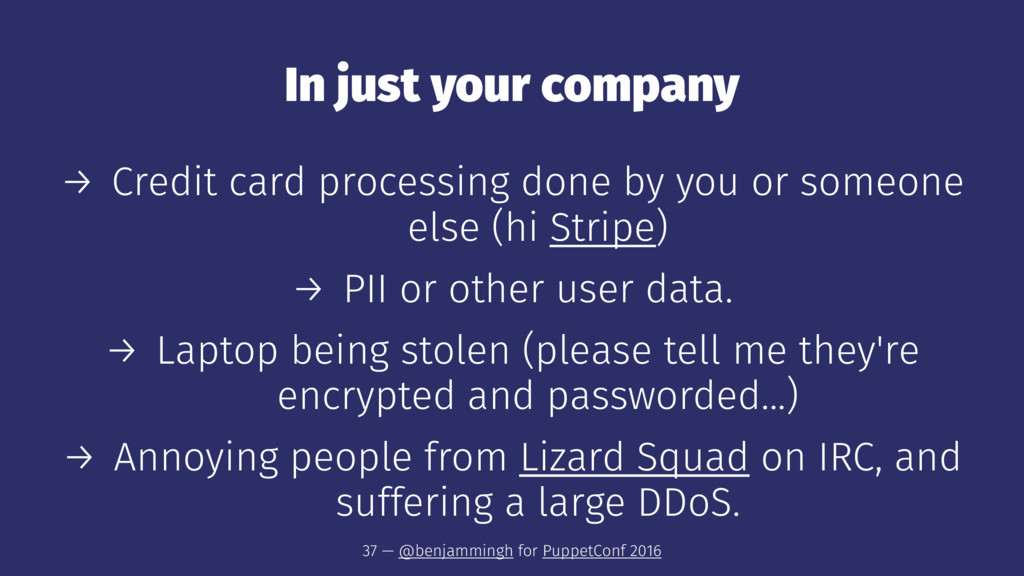 In just your company → Credit card processing d...