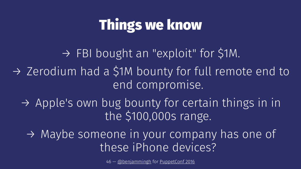 "Things we know → FBI bought an ""exploit"" for $1..."