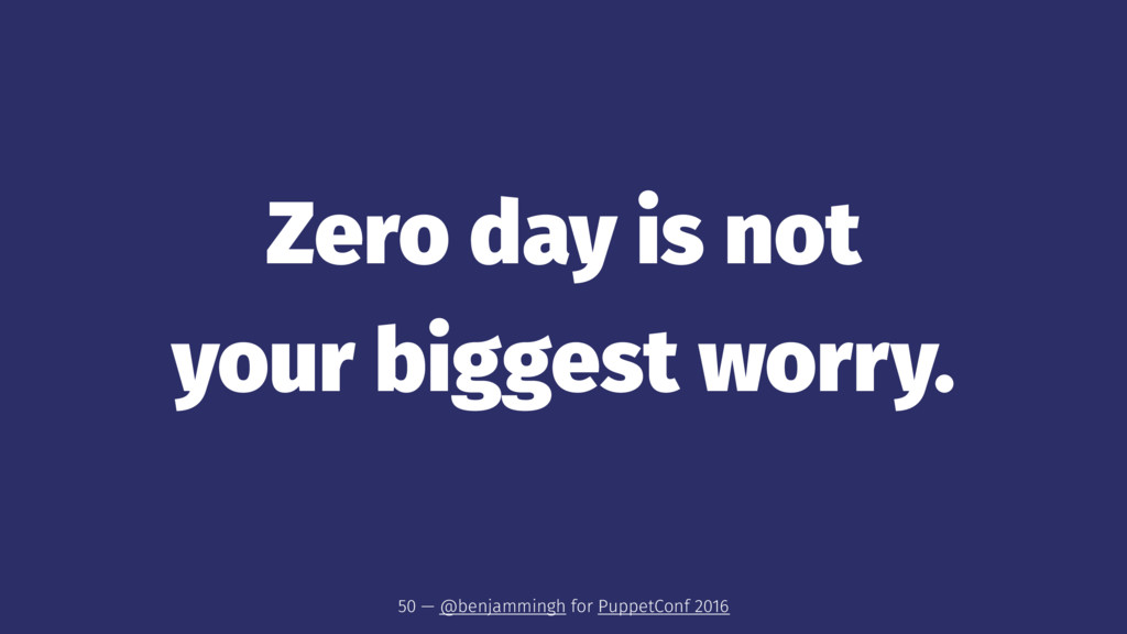 Zero day is not your biggest worry. 50 — @benja...