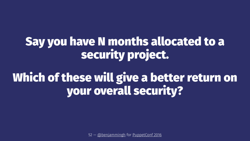 Say you have N months allocated to a security p...