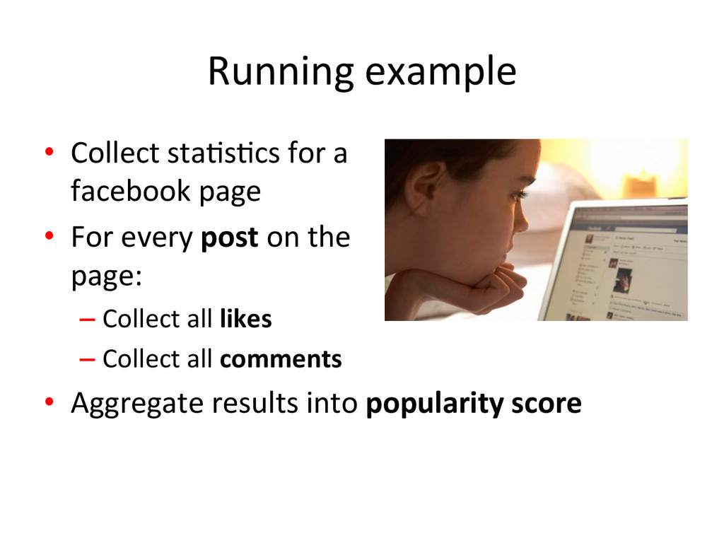 Running example  • Collect staJsJcs...