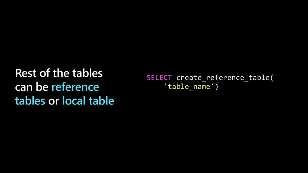 Rest of the tables can be reference tables or l...
