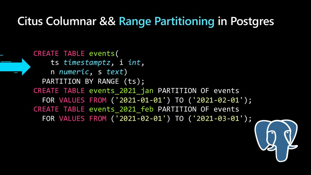 Citus Columnar && Range Partitioning in Postgre...