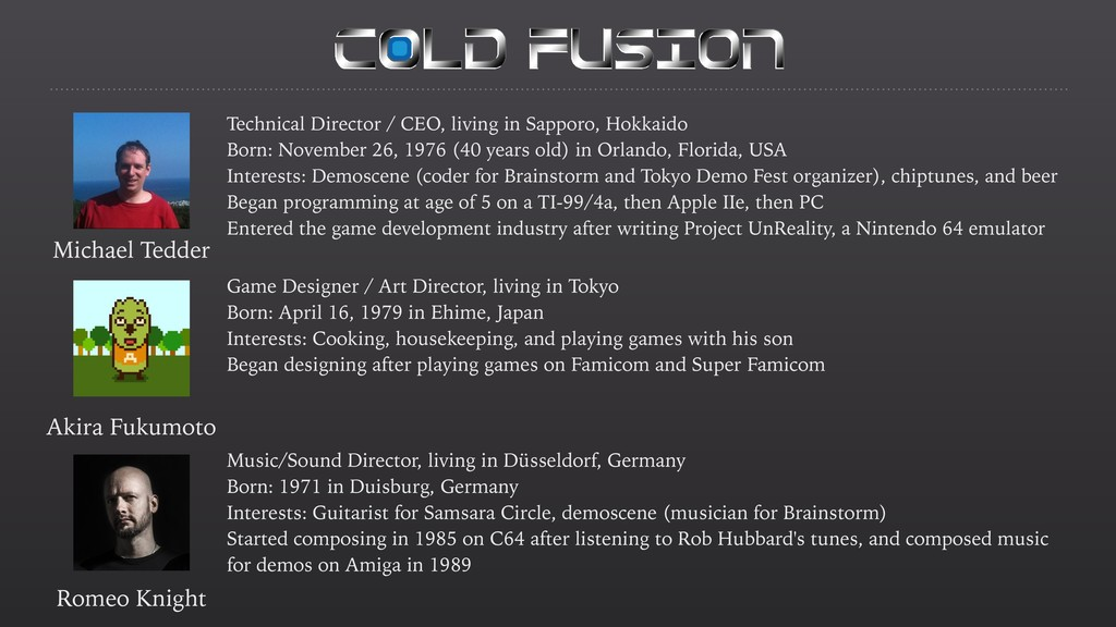 Technical Director / CEO, living in Sapporo, Ho...