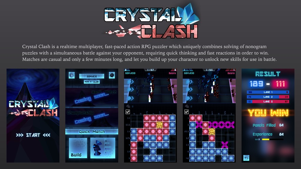 Crystal Clash is a realtime multiplayer, fast-p...