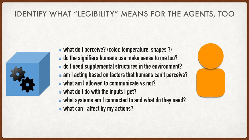 "IDENTIFY WHAT ""LEGIBILITY"" MEANS FOR THE AGENTS..."