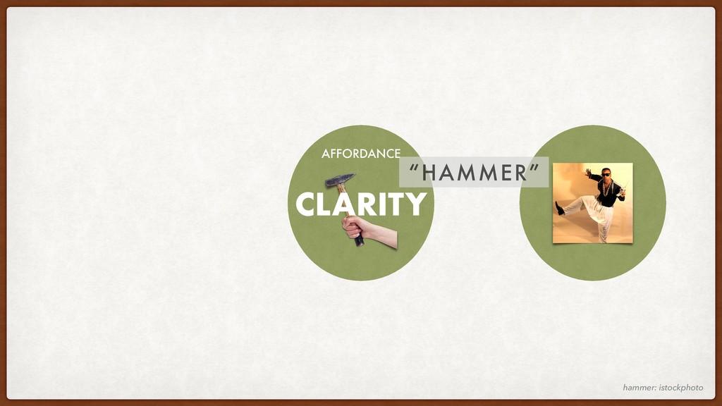 "hammer: istockphoto AFFORDANCE ""HAMMER"" CLARITY"