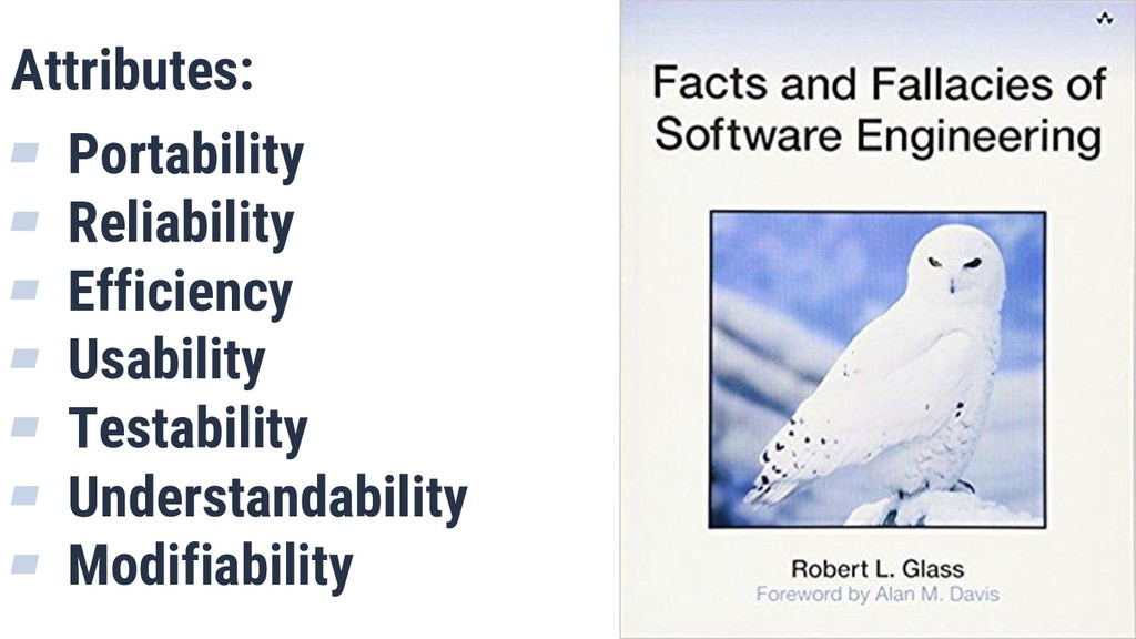 What is Quality? 7 Attributes: ▰ Portability ▰ ...