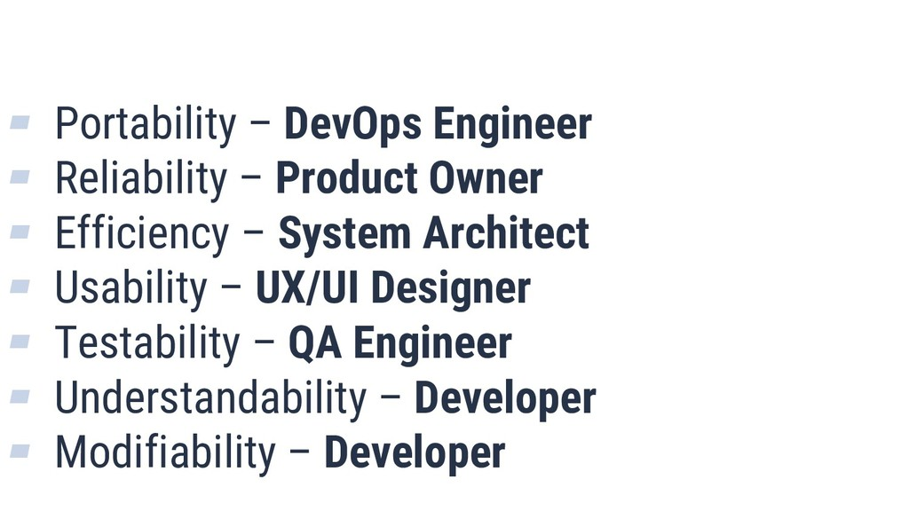 What is Quality? 8 ▰ Portability – DevOps Engin...