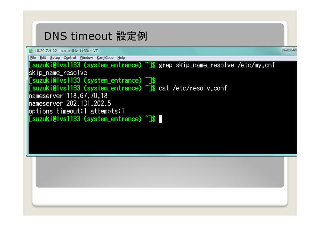 DNS timeout 設定例