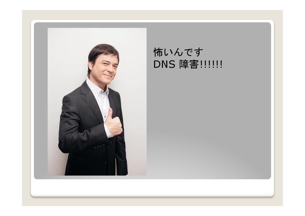 怖いんです DNS 障害!!!!!!