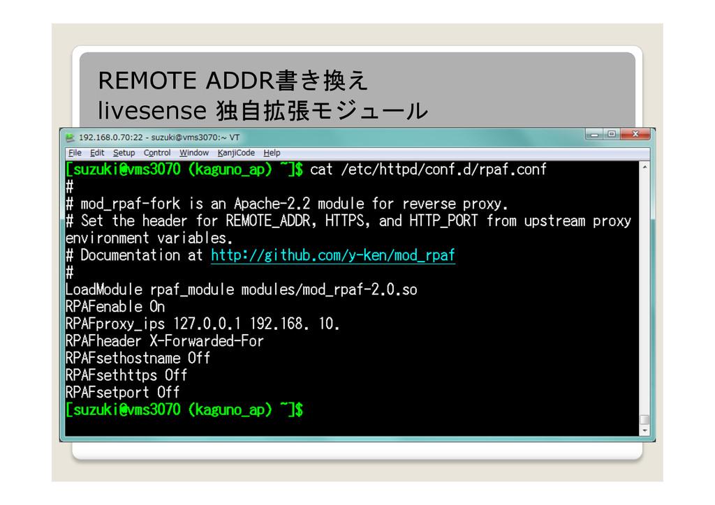 REMOTE ADDR書き換え livesense 独自拡張モジュール